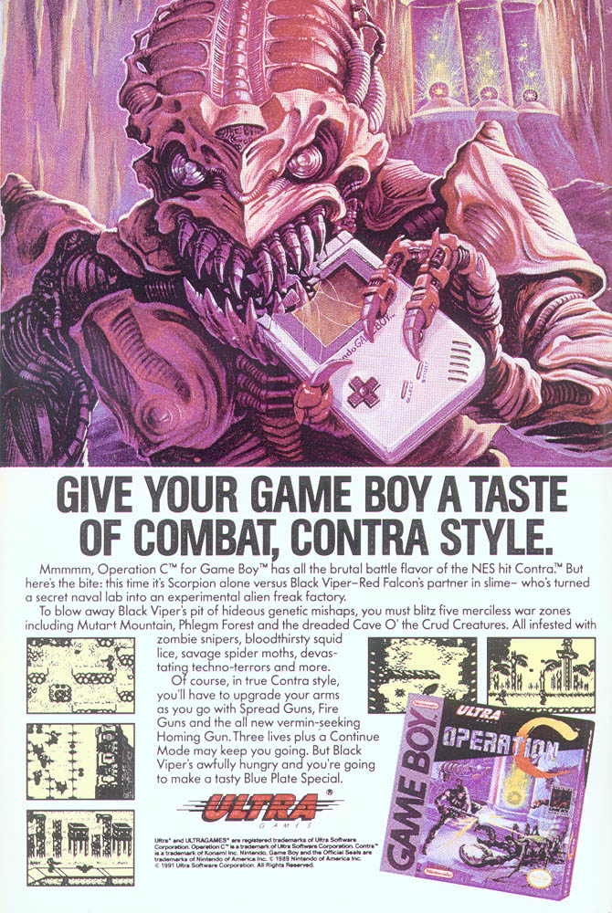 The ad copy is very clear that this is a single-player game. I guess it was important to tell consumers this game did not have the greatest feature of *Contra*: simultaneous coop.