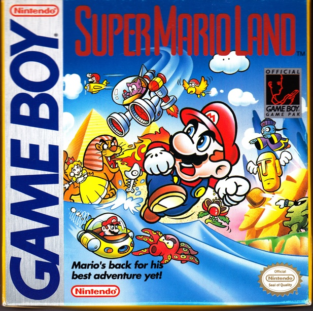 Nintendo first used original Japanese art for a *Mario* game box art with *Super Mario Land*.